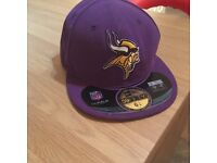 Purple Vikings NFL Flat Peak