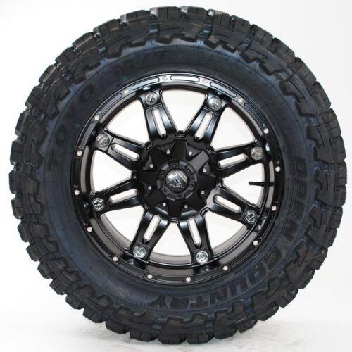 """18x9 Fuel Hostage D531 Matte Black Toyo Mt 35x12.50r18 35"""" Wheels Tires"""