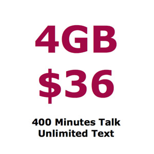 $36 / month - 4GB LTE, 400 Min Talk, Unlimited Text, LG G5
