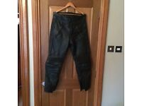 Belstaff men's 36 leather motorcycle trousers