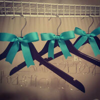 Beautiful personalized wedding hangers! Order yours today!!