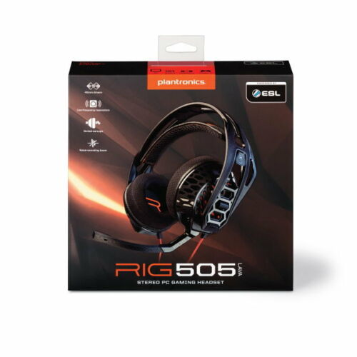 Plantronics Over-the-Ear Gaming Headset Black/Orange RIG 505 LAVA