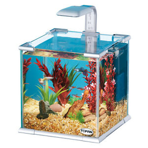 Topfin  2.65 gallon fish tank with many accessories