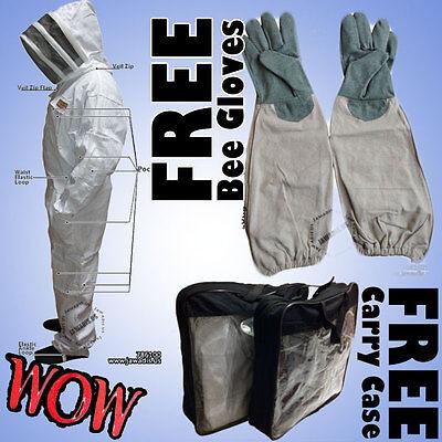 Beekeeping Beekeeper Bee Suit Animal Handling Pest Control Fence Veil FREE Glove