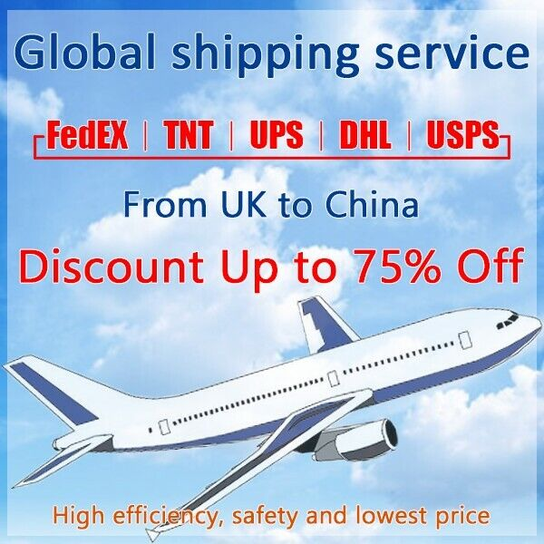 Discount FedEx/TNT/UPS Shipping label from UK to China fast shipping