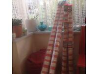 Dunelm Mill Red Stripe Roman Blackout Blinds- Brand New (91.5cm + 122cm Width)