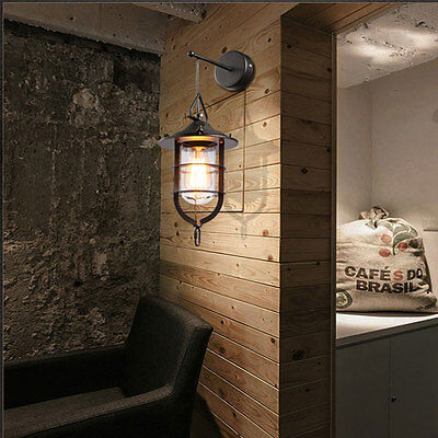 Industrial Loft Retro Wall Lamps Vintage Metal Wall Fixtures Sconce Cage Lights