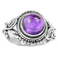 AMETHYST SET IN HALLMARKED 925 STERLING SILVER RING Size 6