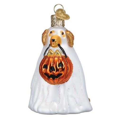 Halloween Trick Or Treat Pooch Dog Glass Ornament Old World Christmas New