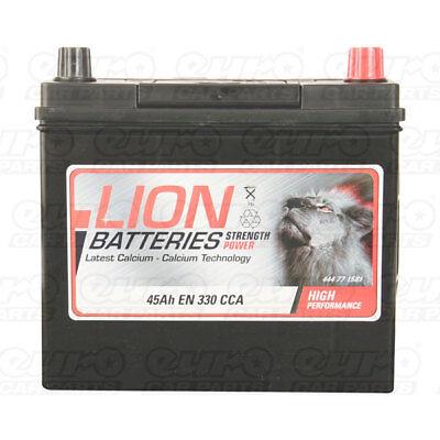 158 Car Battery 3 Years Warranty 45Ah 330cca 12V Electrical - Lion MF54523