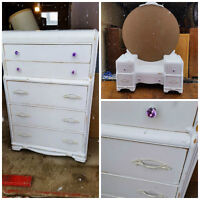 Antique Dresser and Vanity