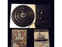 DJ Hero turntable with 2 x games