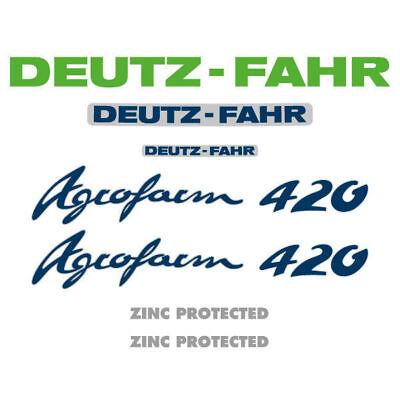 Deutz-fahr Agrofarm 420 Tractor Decal Aufkleber Adesivo Sticker Set