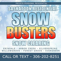 Saskatoon Residential snow removal - Per visit or Monthly