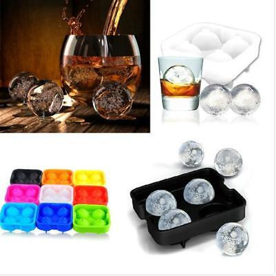 Pink Ice Cubes (Whiskey Ice Ball Cube 4Ball Maker Mold Sphere Mould Party Round Bar)
