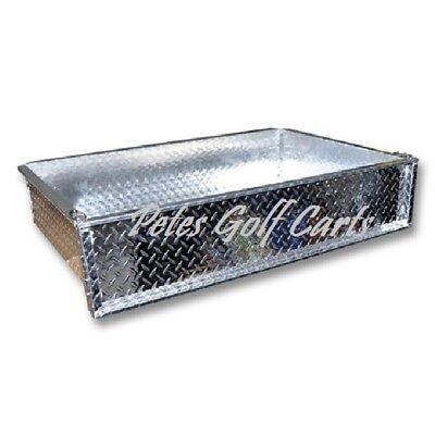 Golf Cart Polished Aluminum Diamond Plate Cargo Box Only Club Car Ezgo Yamaha