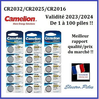 Batteria/Cell pulsante Camelion 3V Litio CR2032/2025/2016, exp rapido