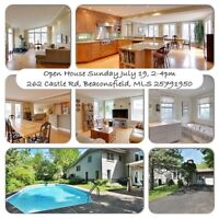 Beaconsfield open House July 19, 2-4pm