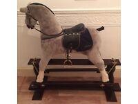 Kids wooden rocking horse