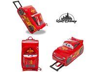 Disney Store Cars Lightening McQueen Children's Travel Pull Along Case Trunki