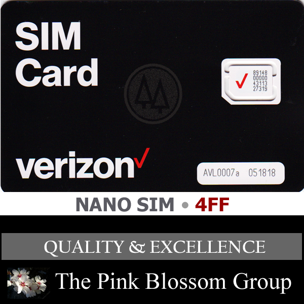 Verizon Wireless 4G LTE Nano SIM card NFC for iPhone 5C, 5S,