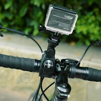 Clamp Roll Bar Handlebar Tripod Mount+Adapter For GoPro Hero
