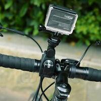 Clamp Roll Bar Handlebar Tripod Mount+Adapter For GoPro Hero