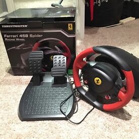 Xbox one Ferrari Thrustmaster steering wheel