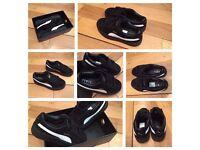 Creepers Puma Rihanna Black Trainers Girls Ladies Female Women Shoes Footwear