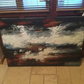 Modern artwork on canvas