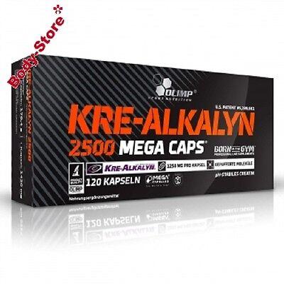 (13,79€/100g) Olimp KRE-ALKALYN 2500 Mega Caps 120 Stück Masseaufbau 170,4g
