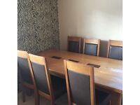 table 6 chairs solid wood RRP £1200