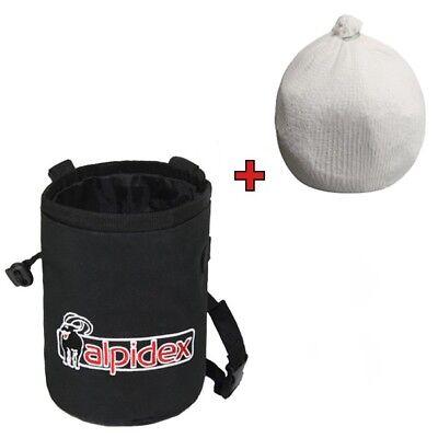 Spar-Paket: Chalkbag HIGHFLY Farbe Black Rock mit Chalk Ball 35 g von Alpidex