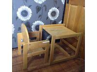 solid wooden pine desk