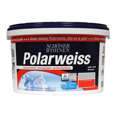 (3,79€/L) Schöner Wohnen Wandfarbe -matt- Polarweiss 11 L