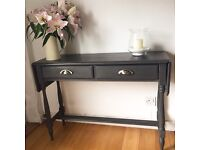 Hand painted bespoke console table Annie Sloan