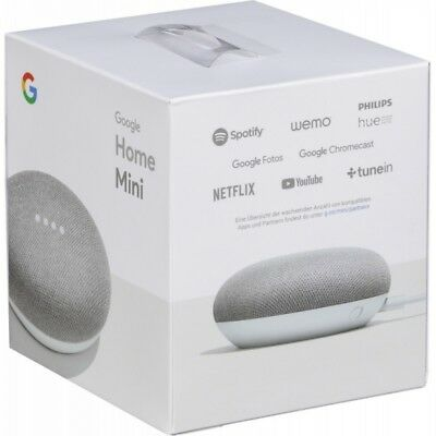 Google Home Mini Smart Small Speaker - Chalk Grey -  BRAND NEW-SHIPS WORLDWIDE