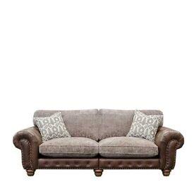 Leather and fabric tetrad sofa