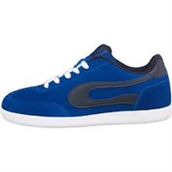 DUFFS MENS SKATE SKATER TRAINERS SHOES SUADE BLUE/NAVY SIZE 10 GENUINE BOXED
