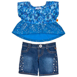 Build a Bear Clothing - New - Girl Justice Blue Lace Outfit 2 pc.