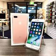AS NEW IPHONE 7 PLUS 128GB ROSE GOLD UNLOCKED WARRANTY INVOICE Pacific Pines Gold Coast City Preview