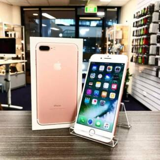 AS NEW IPHONE 7 PLUS 128GB ROSE GOLD UNLOCKED WARRANTY INVOICE