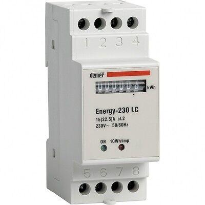 Vemer Contatore di Energia da barra Din 230V AC Consumo Corrente casa VN960100