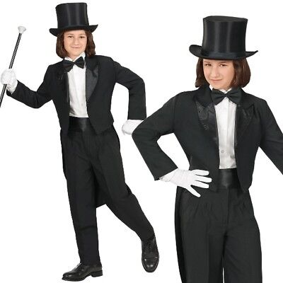 FRACK schwarz Kinder Kostüm Gr. 128  NEU Show Theater Karneval Party Auftritt