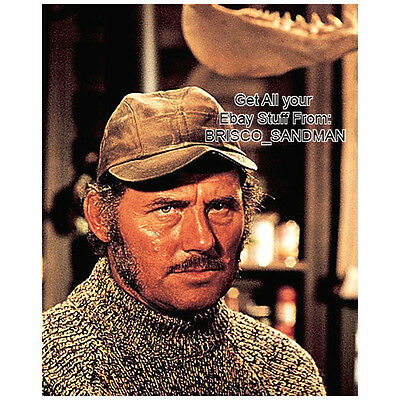 Fridge Fun Refrigerator Magnet JAWS Moving picture Quint Robert Shaw Photo 70s retro
