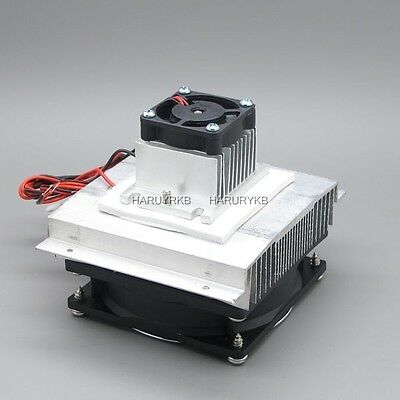 Thermoelectric Peltier Refrigeration Cooling System Kit Cooler fan TEC1-12706
