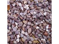 20 mm Staffordshire pink garden and driveway chips/ stones/ gravel