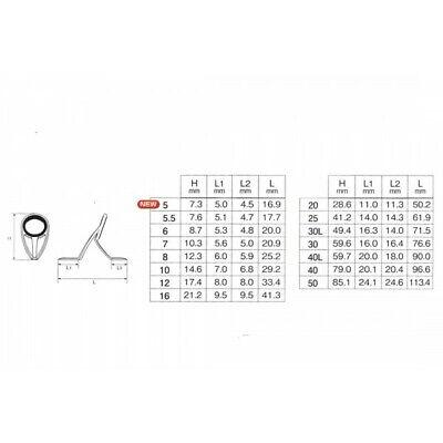 8998 Fuji T-KLSG Size 10H Rod Guide Titanium Frame SIC x 1 piece