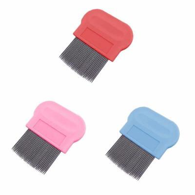 Pet Cat Dog Kitten Puppy Metal Flea Comb Hair And Fur Grooming Brush Pack of 3