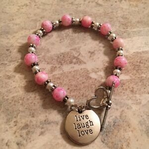 live laugh love - Charm Bracelet